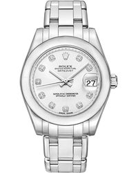 Rolex - Pearlmaster 34 White Gold - Lyst