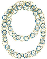 "Buccellati - 18k Yellow Gold & Chalcedony ""hawaii"" Long Necklace - Lyst"