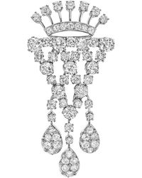 Tiffany & Co. - Platinum & Diamond Drop Brooch - Lyst