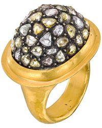 Yossi Harari - 24k Gold & Diamond 'mosaic' Dome Ring - Lyst