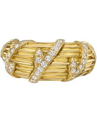 Cartier - 18k Yellow Gold & Diamond Vine Ring - Lyst