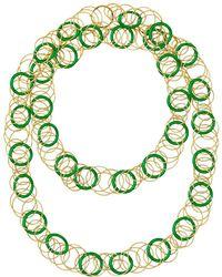 "Buccellati - 18k Yellow Gold & Jade ""hawaii"" Long Necklace - Lyst"