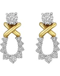 Tiffany & Co. - Round Diamond Stud Earrings With Removable Drops - Lyst