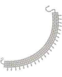 "BVLGARI - 18k White Gold & Diamond ""lucea"" Choker Necklace - Lyst"