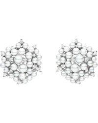 """Paul Morelli - Pearl & Diamond """"lagrange"""" Stud Earrings - Lyst"""