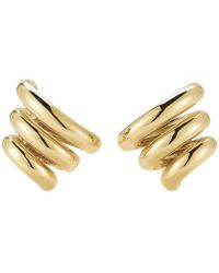 "Seaman Schepps - 18k Yellow Gold ""mousetrap"" Earrings - Lyst"