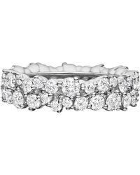 "Paul Morelli - Medium 18k White Gold & Diamond ""confetti"" Band Ring - Lyst"
