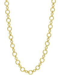 """Elizabeth Locke - 19k Yellow Gold """"riviera"""" Link Long Necklace - Lyst"""