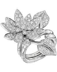 """Van Cleef & Arpels - Diamond """"lotus"""" Between-the-finger Ring - Lyst"""