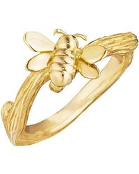 Mimi So - 18k Gold Bumble Bee Band Ring - Lyst