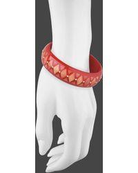 Mark Davis - Red & Pink Inlay Bakelite Bangle With Diamond - Lyst