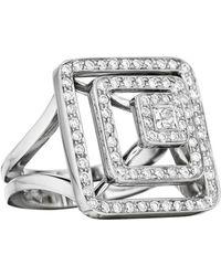 Mimi So - 18k White Gold & Diamond Pyramid Ring - Lyst