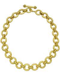 "Elizabeth Locke - 19k Yellow Gold ""ravenna"" Link Necklace - Lyst"