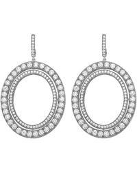"Ivanka Trump - Small 18k White Gold & Diamond ""signature"" Drop Earrings - Lyst"