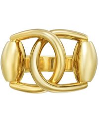 e030654418 Gucci 18k Yellow Gold Horsebit Contraire Ring in Yellow - Lyst
