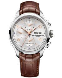 Baume & Mercier - Clifton Chronograph 43mm Steel - Lyst