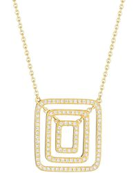 Mimi So The Piece Swing Necklace with Diamonds