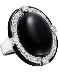 Ivanka Trump - Black Onyx & Diamond Cocktail Ring - Lyst