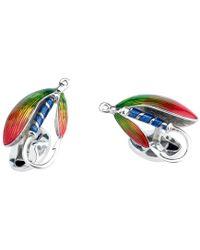 Deakin & Francis - Silver Fly Fishing Lure Cufflinks - Lyst