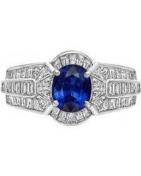 Van Cleef & Arpels - Sapphire & Diamond Cluster Ring - Lyst