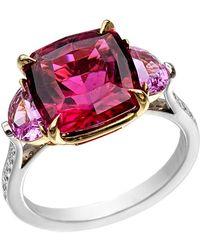 Paolo Costagli - 5.17 Carat Pink Tourmaline & Pink Sapphire Ring - Lyst