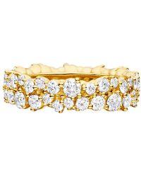 "Paul Morelli - 18k Yellow Gold & Diamond ""confetti"" Band Ring - Lyst"