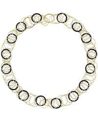 "Buccellati - 18k Yellow Gold & Onyx ""hawaii"" Necklace - Lyst"
