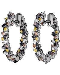 "Paul Morelli - Extra Small Multicolored Diamond ""confetti"" Hoop Earrings - Lyst"