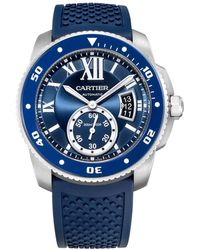 Cartier - Calibre Diver Blue Steel - Lyst