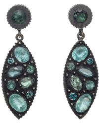 "Yossi Harari - Gem-set Mosaic ""sara"" Drop Earrings - Lyst"
