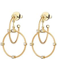 "Paul Morelli - Short 18k Yellow Gold ""unity"" Rain Chain Earrings - Lyst"