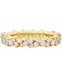 "Paul Morelli - Small 18k Yellow Gold & Diamond ""confetti"" Band Ring - Lyst"