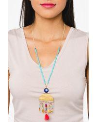 bevello - Half Circle Pendant Necklace - Lyst