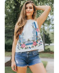 Free People - Honey Pie Embroider Tank - Lyst
