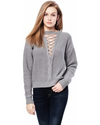 Oxford Sunday - Cross Neck Cable Sweater - Lyst