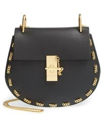 Chloé 'Small Drew' Leather & Chain Link Crossbody Bag - Lyst
