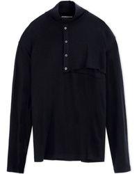 Yohji Yamamoto | High Neck Sweater | Lyst