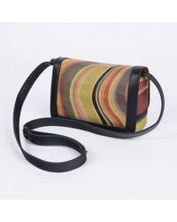 Paul Smith Swirl Print Calf Leather Cross-Body Bag multicolor - Lyst
