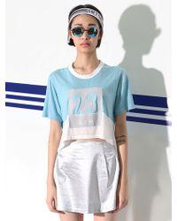 Cres. E Dim Sky Blue 23 Logo Top - Lyst