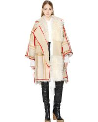 Chloé Reversible Shearling Leather Coat - Lyst