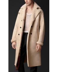 Burberry Shearling-lined Suede Trench Coat - Lyst