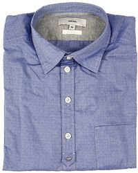 Diesel Shirt S-Zul Embossed Cotton blue - Lyst