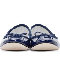 Repetto Navy Patent Leather Cinderella Flats - Lyst