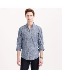J.Crew Chambray Shirt in Floral Scroll - Lyst