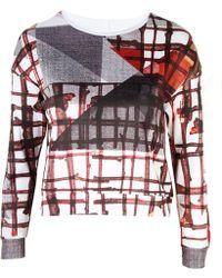Clover Canyon - Gradient Plaid Sweatshirt Fleece - Lyst