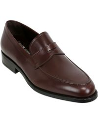 Ferragamo Paladino Leather Penny Loafers - Lyst