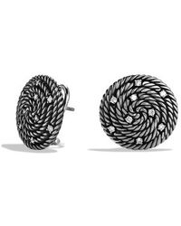 David Yurman Cable Coil Earrings with Diamonds - Lyst