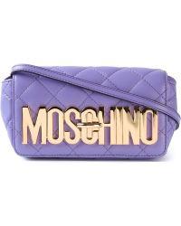 Moschino Quilted Sheepskin Shoulder Bag - Lyst