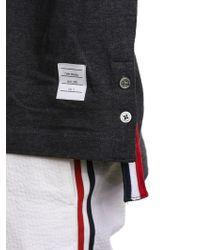 Thom Browne   Dark Grey Polo Shirt   Lyst