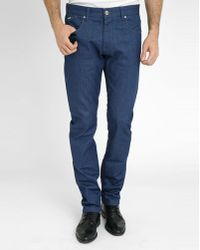 Armani Blue Slim-Fit Jeans With Orange Turn-Up blue - Lyst